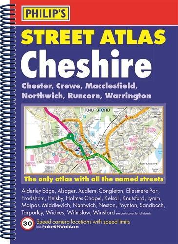 Philip's Street Atlas Cheshire - Philip's Street Atlas (Spiral bound)