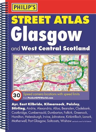 Philip's Street Atlas Glasgow and West Central Scotland (Spiral bound)