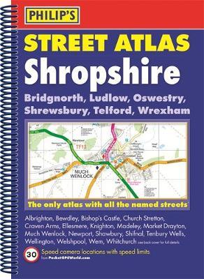 Philip's Street Atlas Shropshire and Telford - Philip's Street Atlas (Spiral bound)