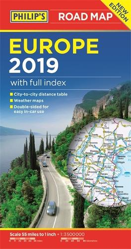 Philip's Europe Road Map - Philip's Sheet Maps (Paperback)