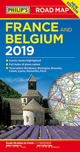 Philip's Road Map France and Belgium - Philip's Sheet Maps (Paperback)