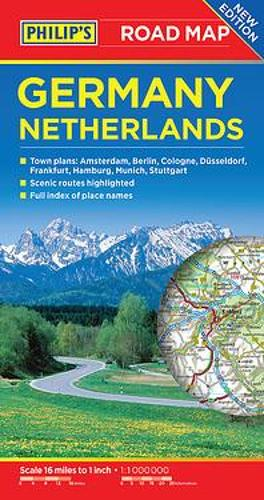 Philip's Germany and Netherlands Road Map (Paperback)