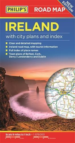 Philip's Ireland Road Map - Philip's Sheet Maps (Paperback)