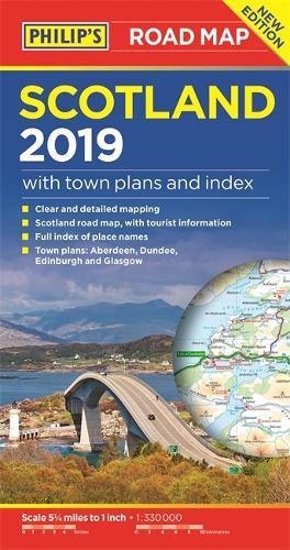 Philip's Scotland Road Map - Philip's Sheet Maps (Paperback)