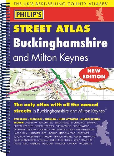 Philip's Street Atlas Buckinghamshire - Philip's Street Atlas (Spiral bound)