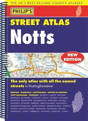 Philip's Street Atlas Nottinghamshire - Philip's Street Atlas (Spiral bound)