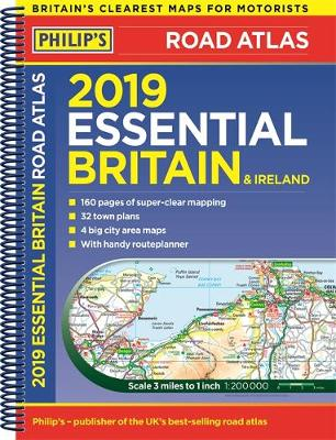 Map Of Ireland And The Uk.Philip S 2019 Essential Road Atlas Britain And Ireland Spiral A4