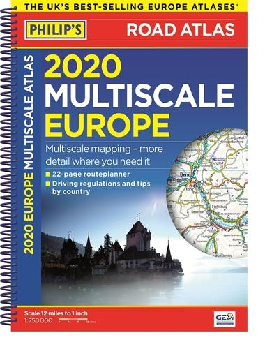 2020 Philip's Multiscale Europe - Philips Road Atlas (Spiral bound)