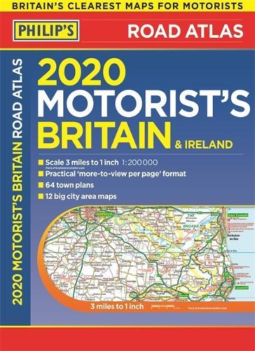 Philip's Motorist's Road Atlas Britain and Ireland: (Large-format paperback) - Philips Road Atlas (Paperback)