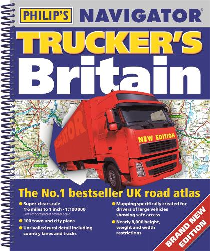 Philip's Navigator Trucker's Britain - Philip's Road Atlases (Spiral bound)