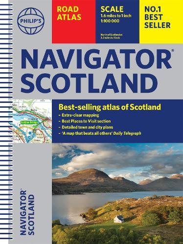 Philip's Navigator Scotland - Philip's Road Atlases (Spiral bound)