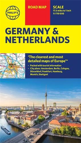 Philip's Germany and Netherlands Road Map - Philip's Sheet Maps (Sheet map)