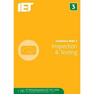 Guidance Note 3: Inspection & Testing (Paperback)