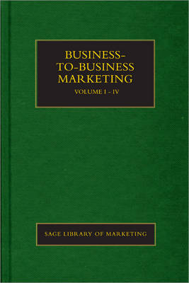Business-to-Business Marketing - SAGE Library in Marketing (Hardback)