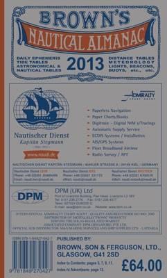 Browns Nautical Almanac 2013 (Hardback)