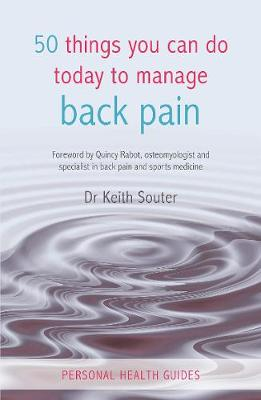 50 Things You Can Do Today to Manage Back Pain - 50 Things (Paperback)