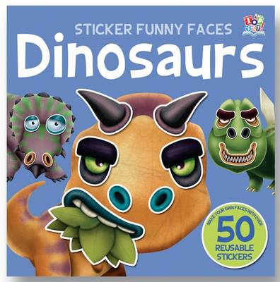 Dinosaurs - Sticker Funny Faces (Paperback)