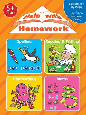 Help With Homework: Spelling; Reading and Writing; Handwriting; Maths (Paperback)