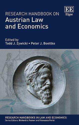 Cover Research Handbook on Austrian Law and Economics - Research Handbooks in Law and Economics Series