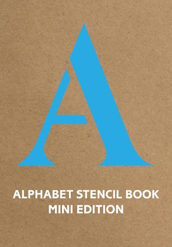 Alphabet Stencil Book mini edition (blue) (Paperback)