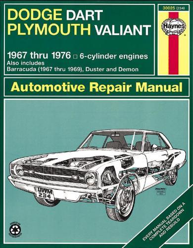 Dodge Dart Plymouth Valiant 67 76 By J H Haynes Peter G