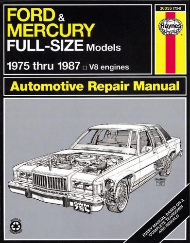 Ford & Mercury Full-Size (75 - 87) (Paperback)