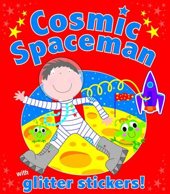 Glitter Spaceman Sticker Book (Paperback)
