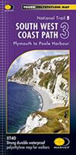 South West Coast Path 3 XT40: Plymouth to Poole Harbour (Sheet map, folded)
