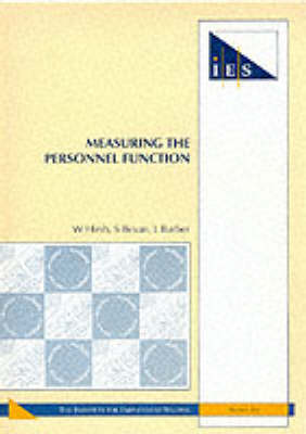 Measuring the Personnel Function - IES Reports No. 286 (Paperback)