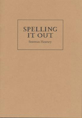 Spelling it Out (Paperback)