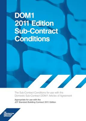 DOM1 2011 Edition Subcontract Conditions (Paperback)