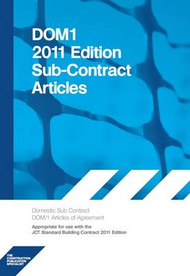 DOM1 2011 Edition Subcontract Articles (Paperback)