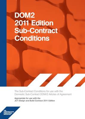 Dom2 2011 Edition Subcontract Conditions (Paperback)