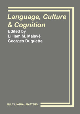 Language, Culture and Cognition - Multilingual Matters (Hardback)