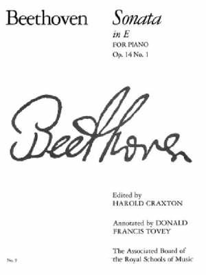 Piano Sonata in E, Op. 14 No. 1: No. 9 - Signature S. (Paperback)
