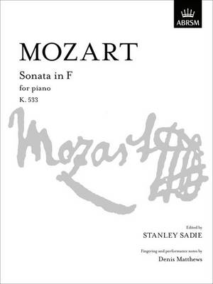 Sonata in F: K. 533 - Signature Series (ABRSM) (Sheet music)