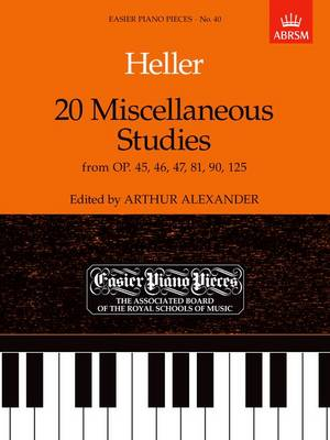 20 Miscellaneous Studies from Op.45, 46, 47, 81, 90 & 125: Easier Piano Pieces 40 - Easier Piano Pieces (ABRSM) (Sheet music)