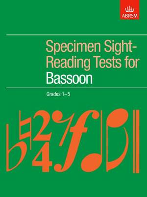 Specimen Sight-Reading Tests for Bassoon, Grades 1-5 - ABRSM Sight-reading (Sheet music)
