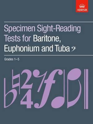 Specimen Sight-Reading Tests for Baritone, Euphonium and Tuba (Bass clef), Grades 1-5 - ABRSM Sight-reading (Sheet music)