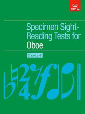 Specimen Sight-Reading Tests for Oboe, Grades 6-8 - ABRSM Sight-reading (Sheet music)