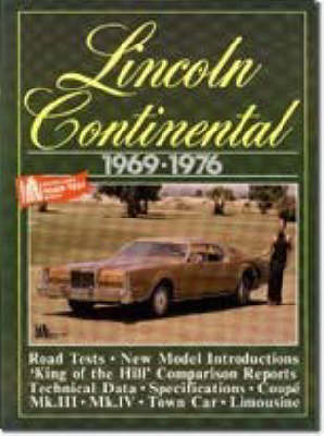 Lincoln Continental, 1969-76 - Brooklands Books Road Tests Series (Paperback)