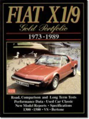 Fiat X1/9 Gold Portfolio: 1973-1989 - Gold Portfolio Series (Paperback)