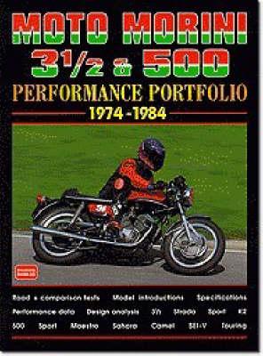 Moto Morini 3-1/2 and 500 Performance Portfolio 1974-1984 - Performance Portfolio (Paperback)