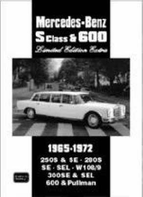 Mercedes-Benz S Class and 600 Limited Edition Extra 1965-1972 (Paperback)