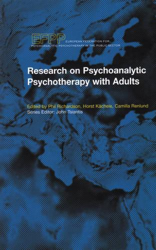 Research on Psychoanalytic Psychotherapy with Adults (Paperback)