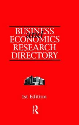 Business and Economics Research Directory (Hardback)