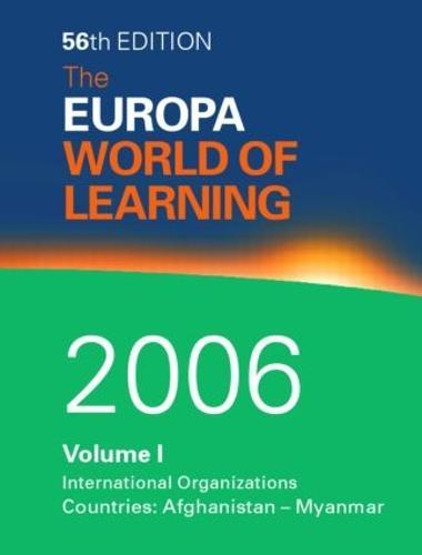Europa World of Learning 2006 (Hardback)