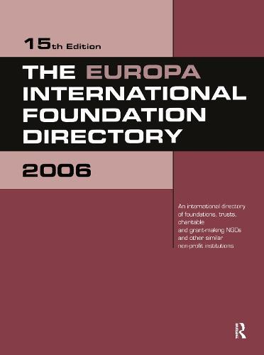 The Europa International Foundation Directory 2006 (Hardback)