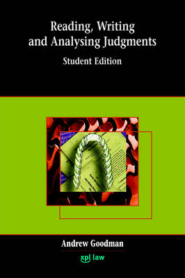 Reading, Writing and Analysing Judgments (Paperback)