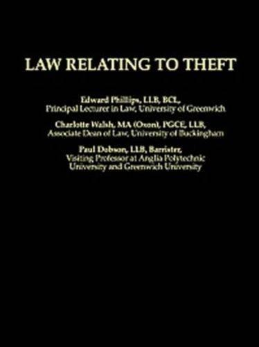 Law Relating To Theft (Paperback)